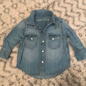 Baby Gap chambray button up 12-18mo